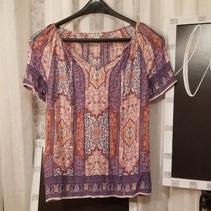 Lucky Brand Women's Printed Top, L